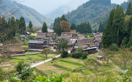 traditional old village in shirakawago