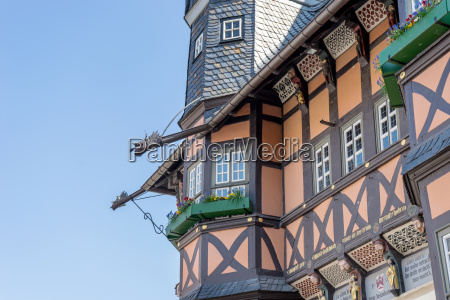 detail of the gothic town hall