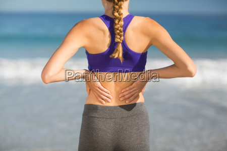 mid section of woman exercising