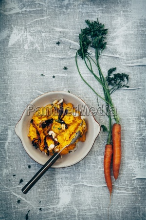 pumpkin and carrot puree carrot chips
