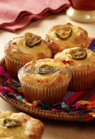 mexican corn bread muffins on a