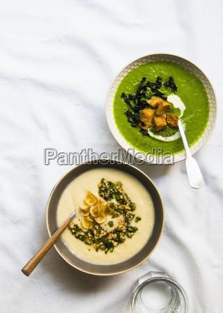pastinaken lauch blumenkohl suppe mit haselnuss