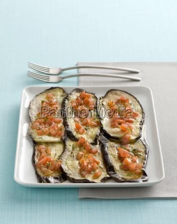 melanzane al forno ofengeroestete auberginen italien
