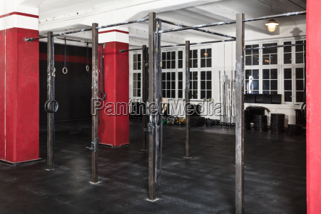an interior of a gym