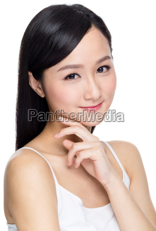 young asian woman with beautiful face