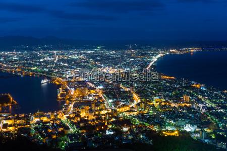 hakodate cityscape at night
