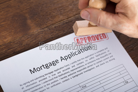 an approved stamp on mortgage application