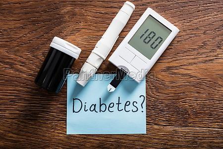 diabetes concept on wooden desk