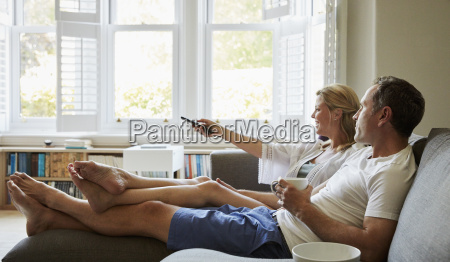 a couple man and woman sitting