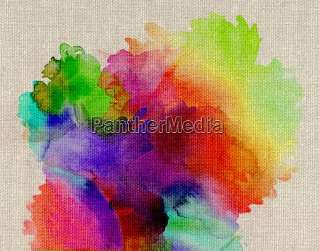 aquarell regenbogen abstrakt leinwand