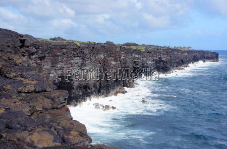 erstarrte lava auf hawaii usa