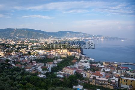 view of italian coast near sorrento