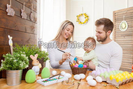 easter concept happy mother and father