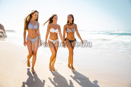 beautiful girls on the beach