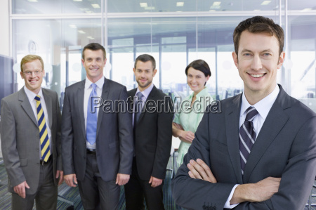 portrait of business team working in