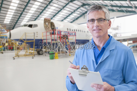 portrait of aero engineer working on