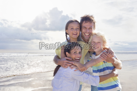 portrait of family having fun on