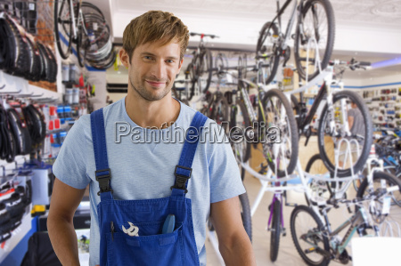 portrait of male sales assistant in