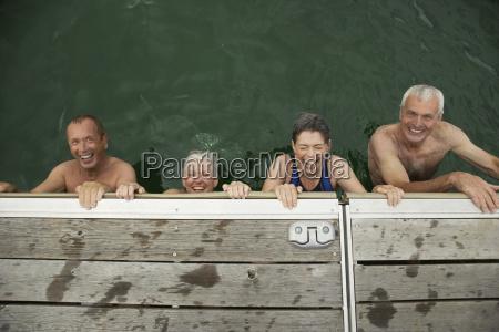 couples on edge of dock