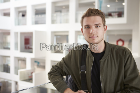 portrait of young adult male student