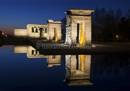spain madrid temple of debod with