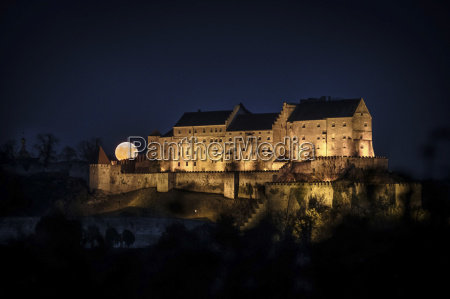 germany burghausen lighted castle in the