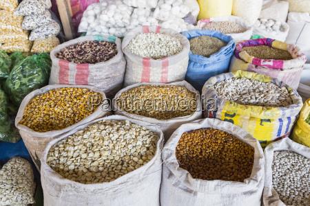 peru cusco markt mercado central de