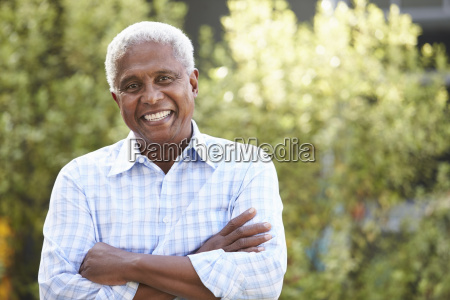 smiling senior african american man with