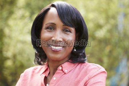 smiling senior african american woman horizontal