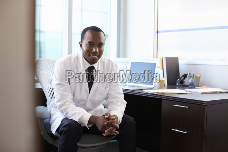 portrait of doctor wearing white coat