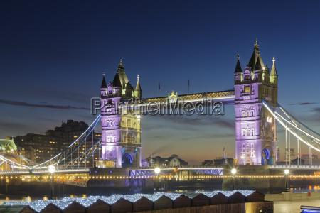 uk london blick auf die beleuchtete