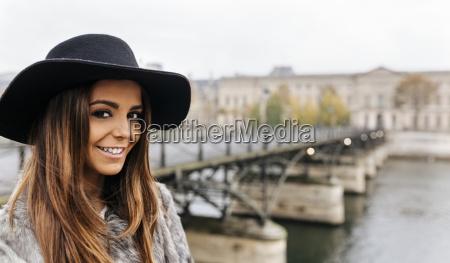 france paris portrait of smiling young
