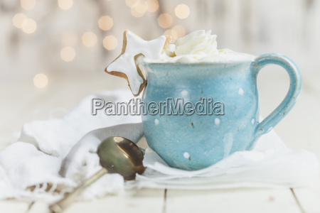 hot chocolate with whipped cream and