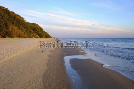deutschland usedom bansin strand bei sonnenuntergang