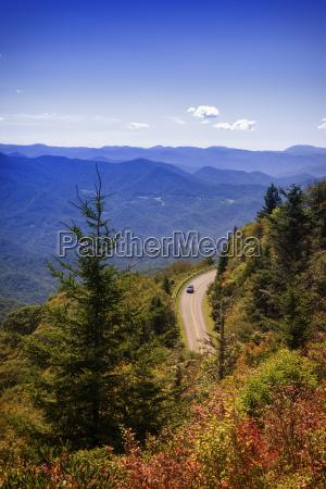 usa north carolina blue ridge mountains