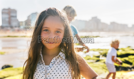portrait of little girl on the