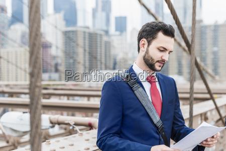 usa new york city businessman on