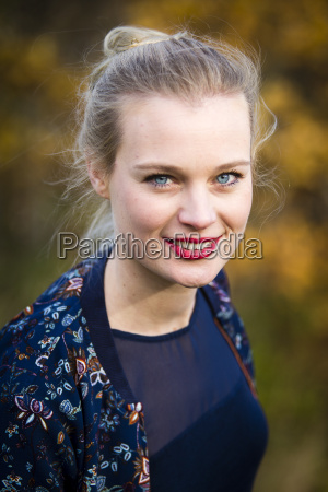 portrait of smiling young woman in