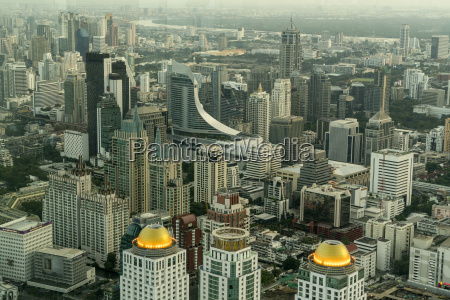 thailand bangkok cityscape seen from above