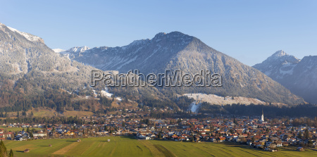 germany view to oberstdorf with allgaeu