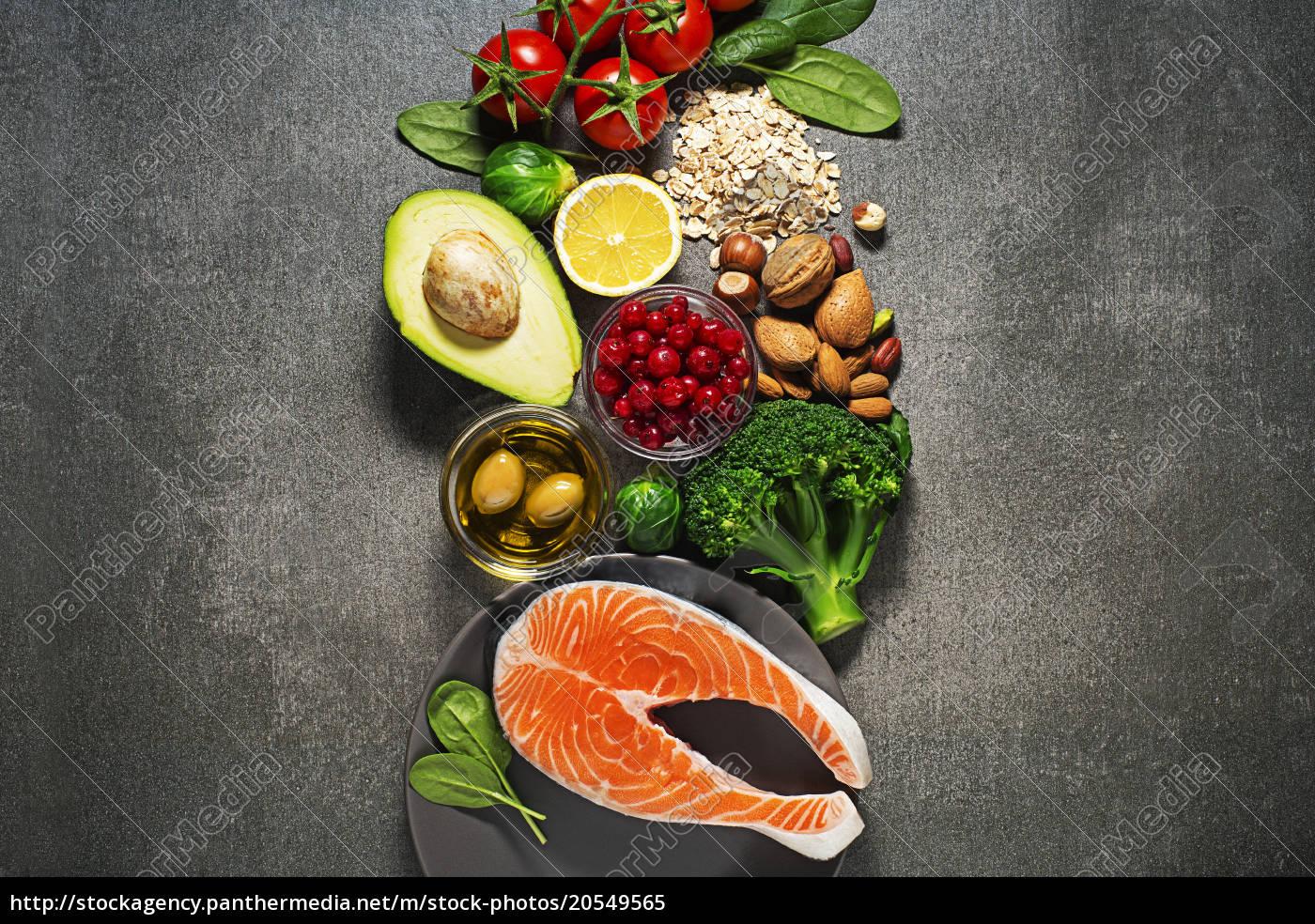 gesundes, essen, mit, lachsfisch - 20549565