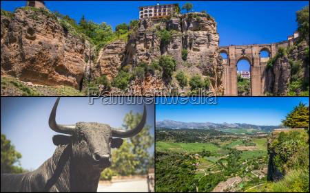 collage von ronda andalusien spanien
