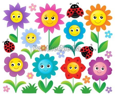 happy flowers topic set 1