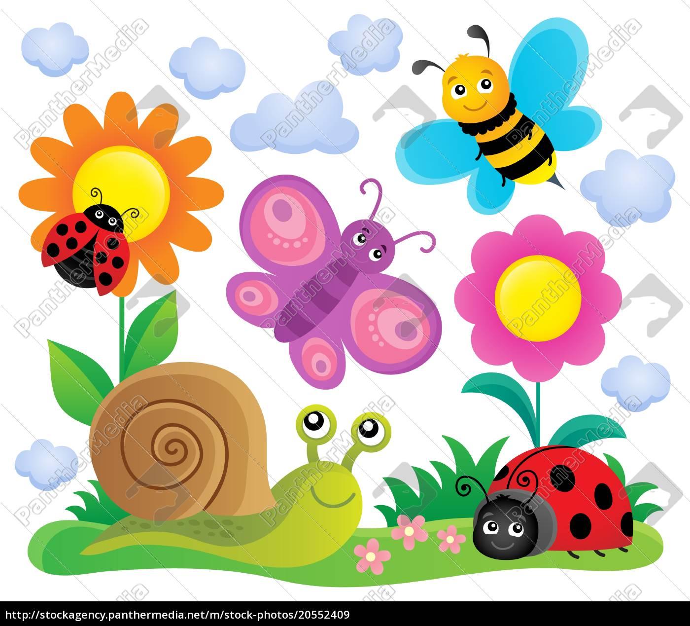 frühlingstiere, und, insektthema, bild, 6 - 20552409
