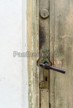 detail of an old wooden door
