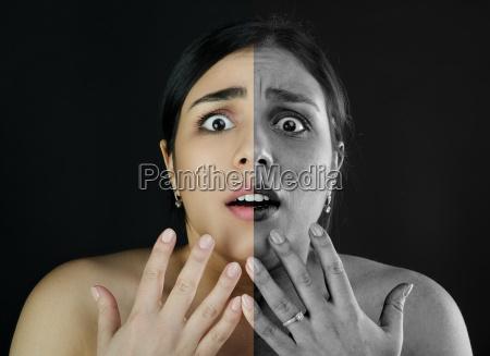 portrait girl make up problem skin