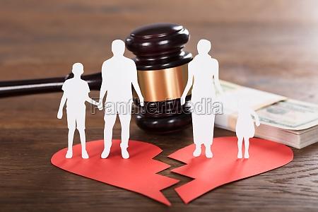 divorce concept on wooden desk
