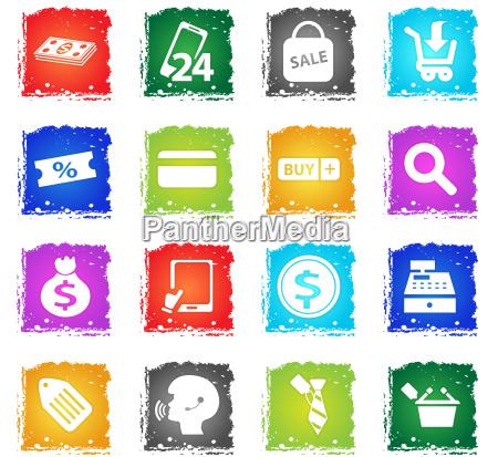 e commerce icon set