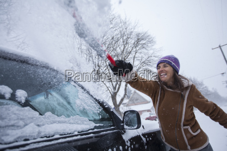 an adult woman having fun clearing