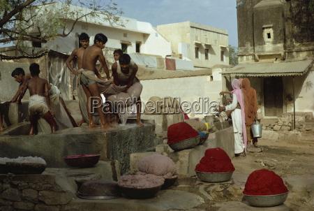 papierherstellung jaipur rajasthan staat indien asien